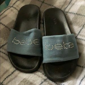 Bebe Denim Slides